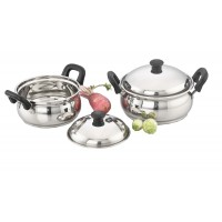 Ultima Induction Base Stainless Steel 4Pcs Cook 'n' Serve Pot