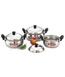 Ultima Induction Base Stainless Steel 6Pcs Cook 'n' Serve Pot