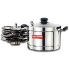 Sowbaghya  Induction Bace SS Idly Cooker(4 plates)