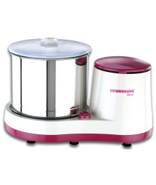 DIVA Wet Grinder (pink with white) with Attachment 2L